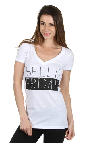 Orange Zone Hello Friday T-Shirt