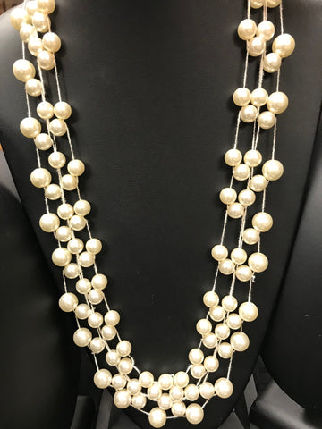 Carolyn Pearl Stretch Necklace