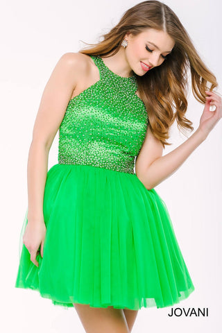 Jovani Jewel Embellished Tulle Dress