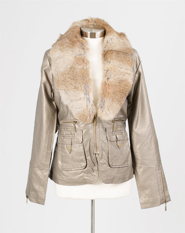 Luii Real Fur Collar Jacket