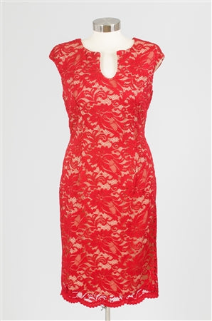 Luxology Red Lace Dress