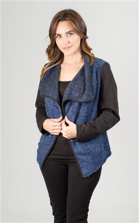 Melissa Paige Quilted Sleeve Cardigan