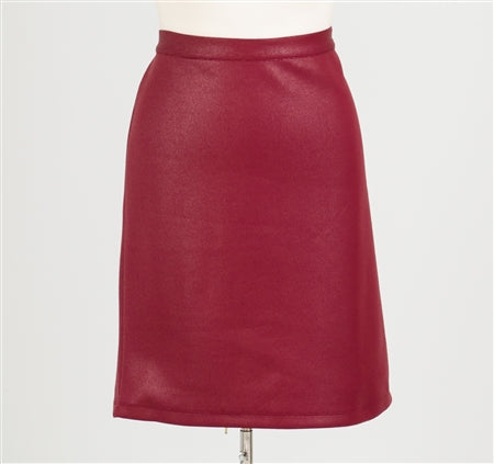 Melissa Paige Faux Leather Skirt