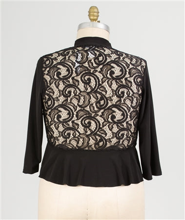 Michelle Lynn Lace Back Shrug Plus
