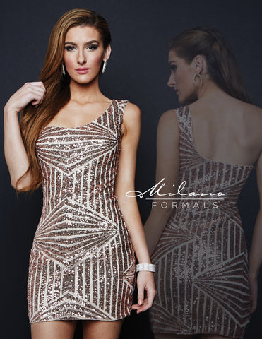 MILANO FORMALS BEADED DRESS