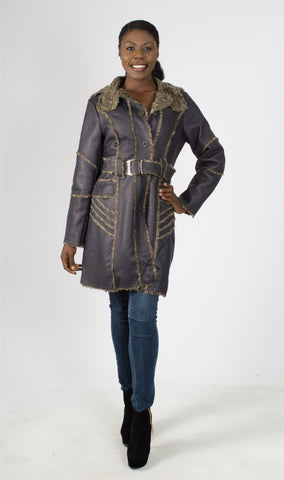 Radzoli Faux Leather Coat