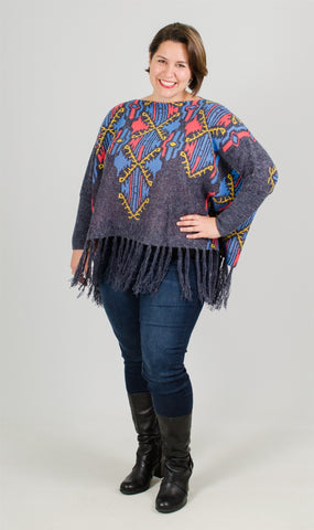 Simply Couture Fringe Poncho