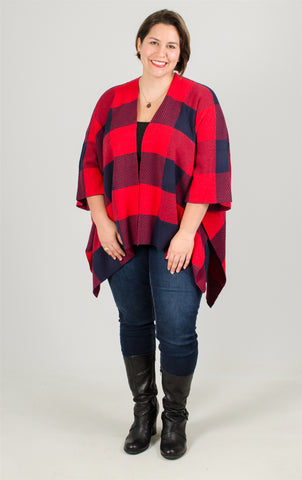 Simply Couture Plaid Shawl