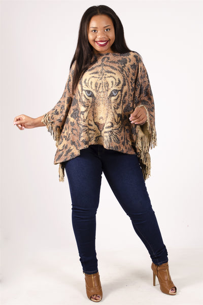 Step In Style Tiger Poncho