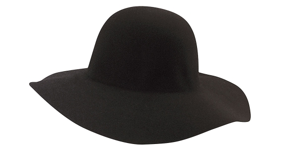 Black Wide Rim Hat