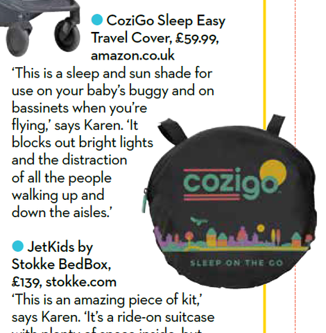 CoziGo in Mother and Baby UK Holiday Guide