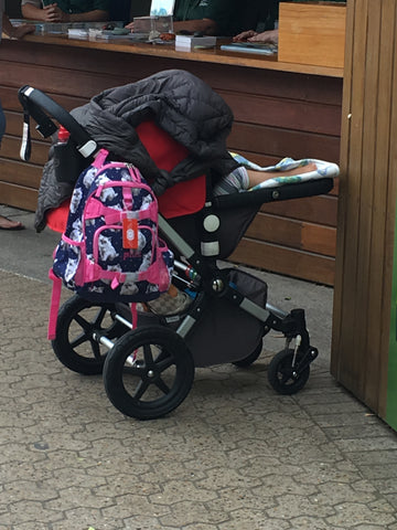 badly covered stroller