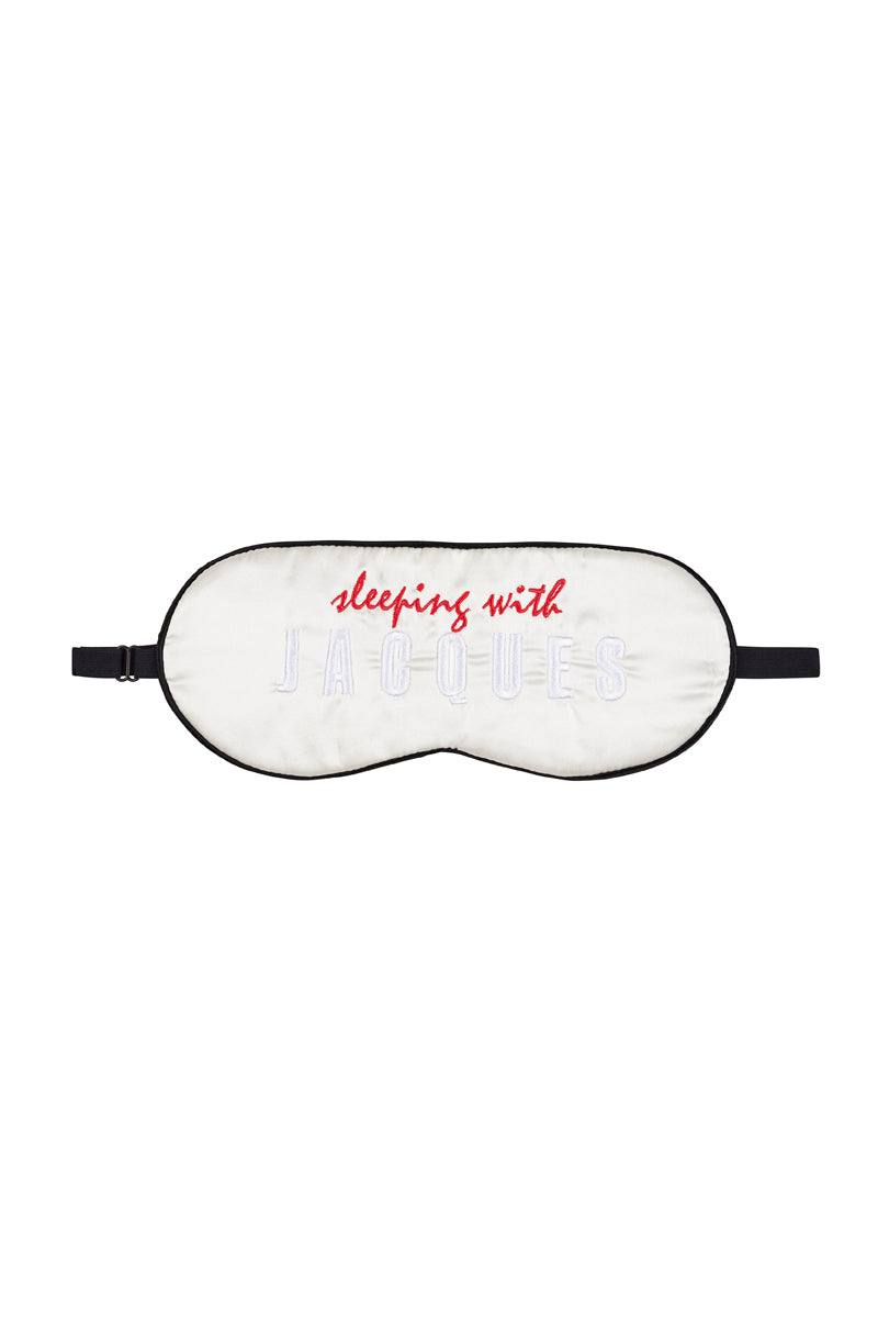 SILK SLEEP MASK {White / Black}