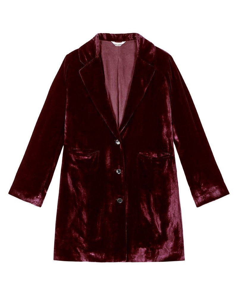 SHIRLEY COAT {WINE}