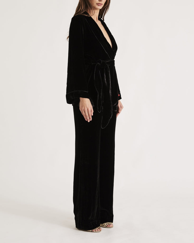 THE BON VIVANT ROBE {BLACK}