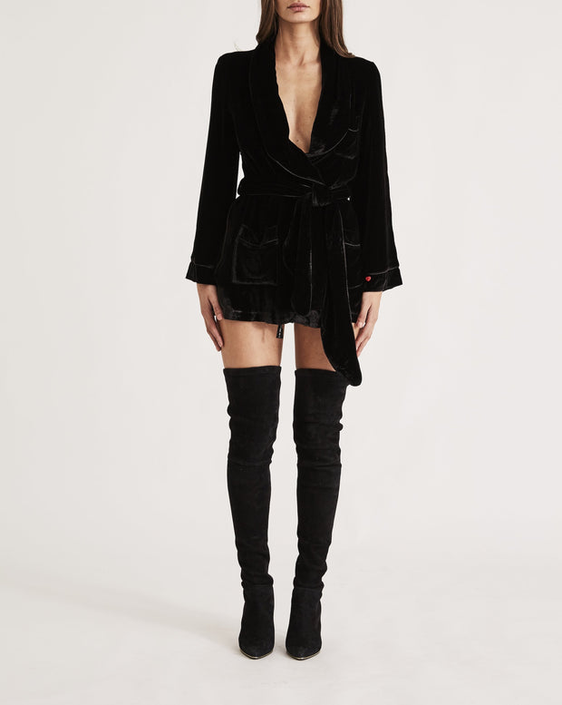 THE BON VIVANT ROBE in ALL BLACK