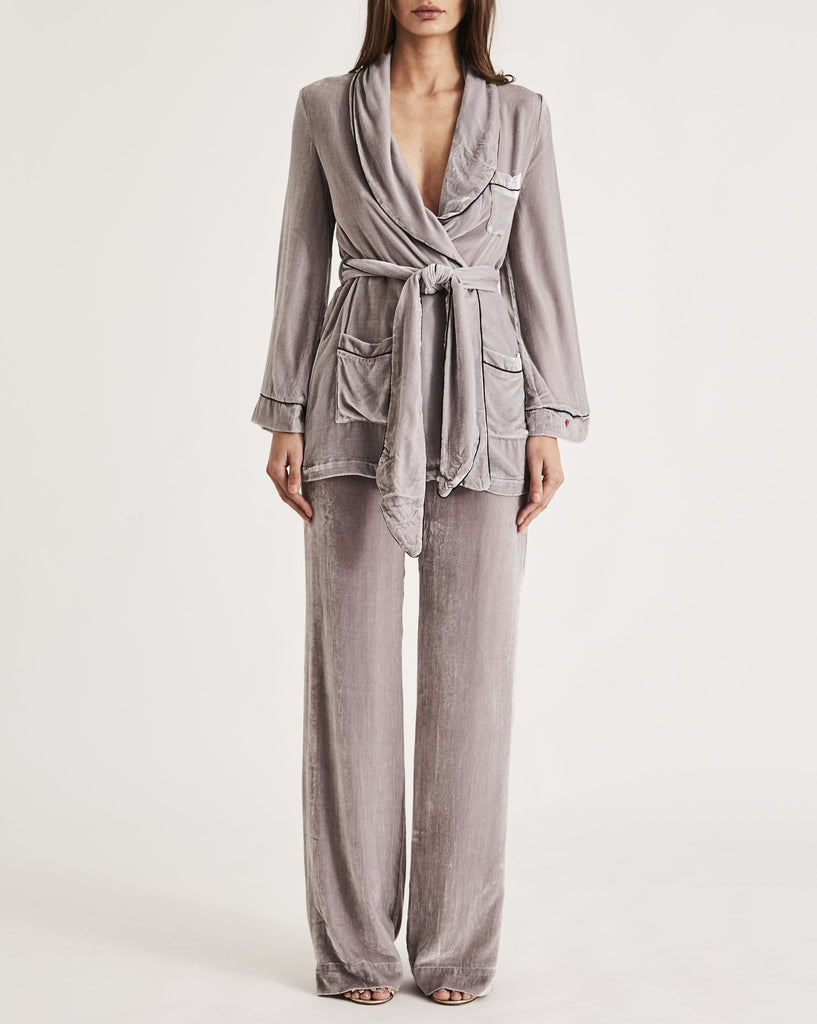 THE BON VIVANT ROBE in PLATINUM