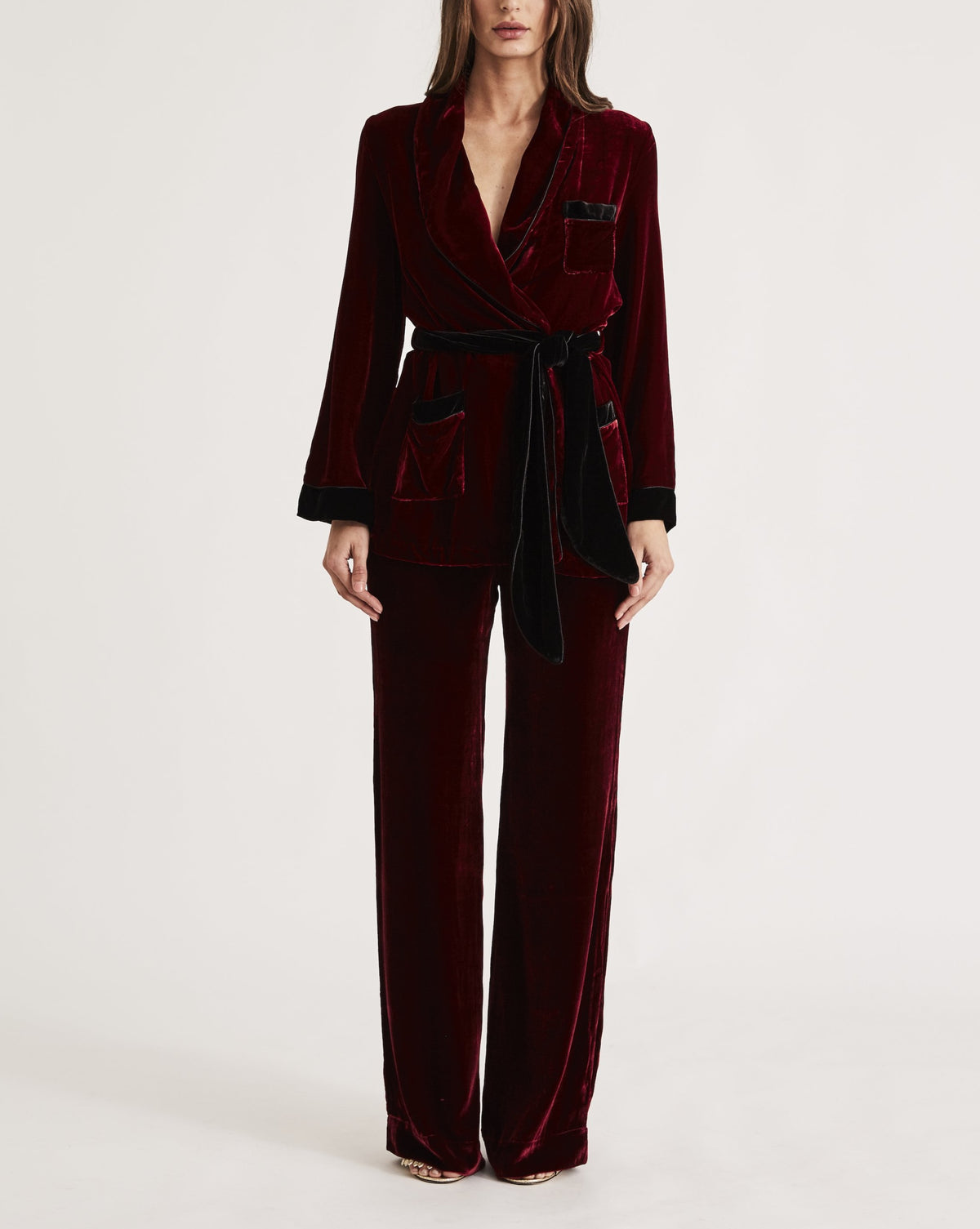 THE BON VIVANT ROBE in RED WINE