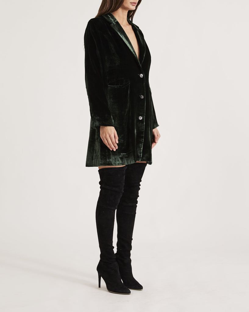 THE SHIRLEY HOLMES COAT in EMERALD