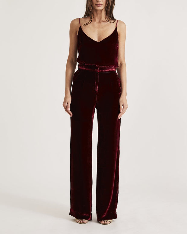 VELVET BOTTOM in RED WINE