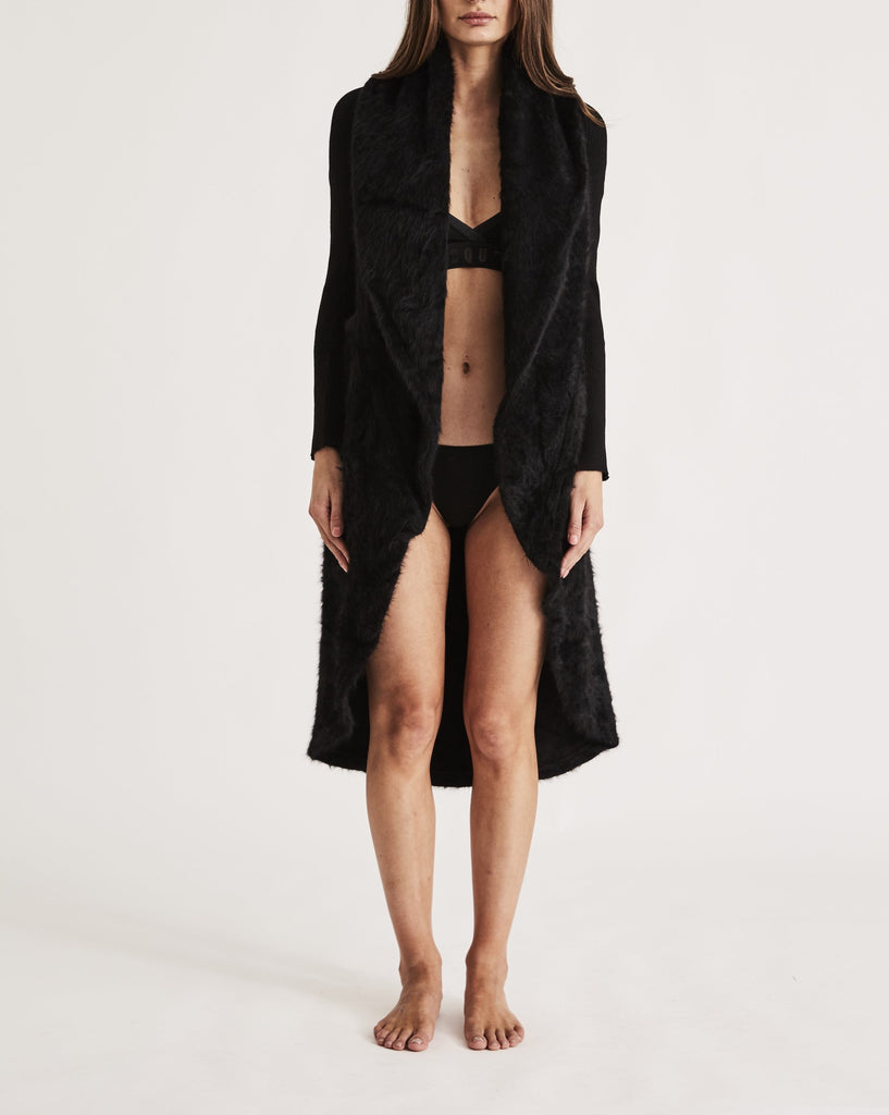 THE CARESS ROBE in ALL BLACK