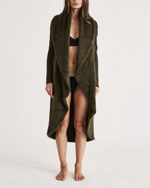 THE CARESS ROBE in FOREST