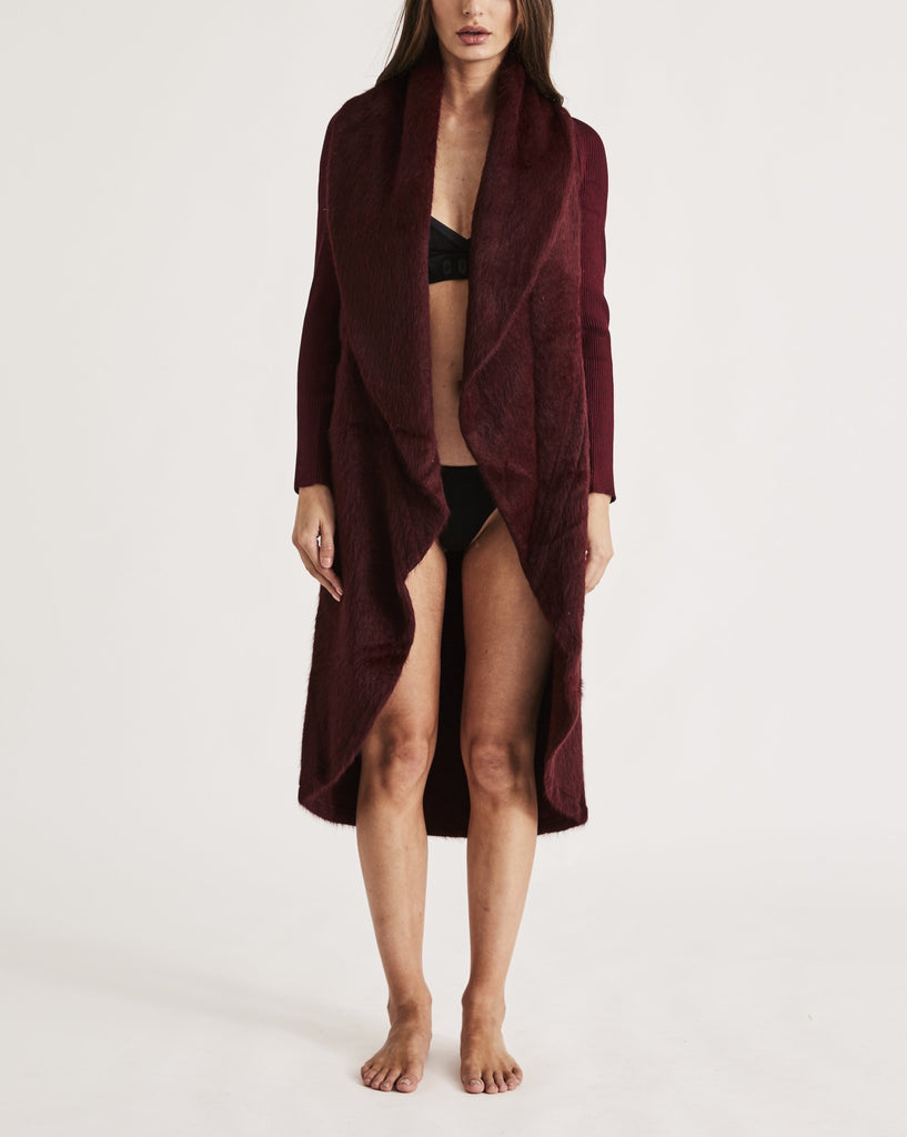 THE CARESS ROBE in WINE