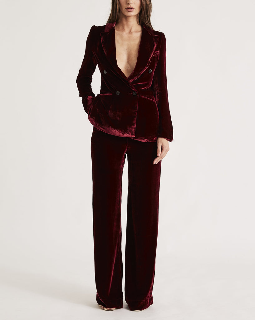 JANE BOND BLAZER in RED WINE
