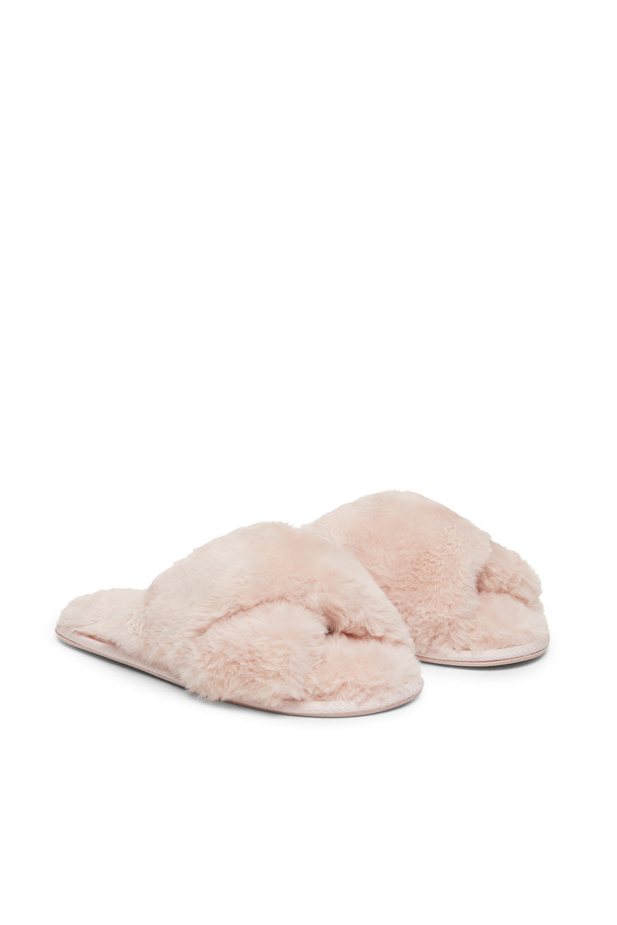 FUR FREE FUR SLIPPERS {Rose Dust}