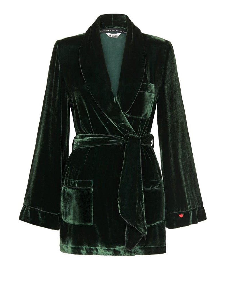 THE BON VIVANT ROBE {EMERALD}