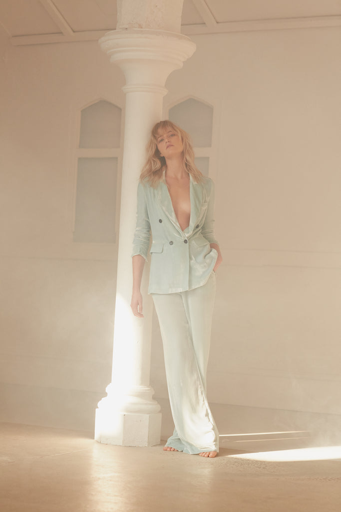 Exclusive to NET-A-PORTER: JANE BOND BLAZER IN MINT
