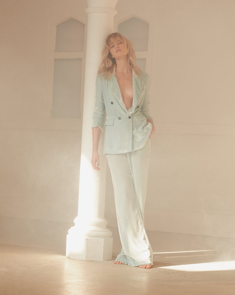 Exclusive to NET-A-PORTER: VELVET BOTTOM in MINT