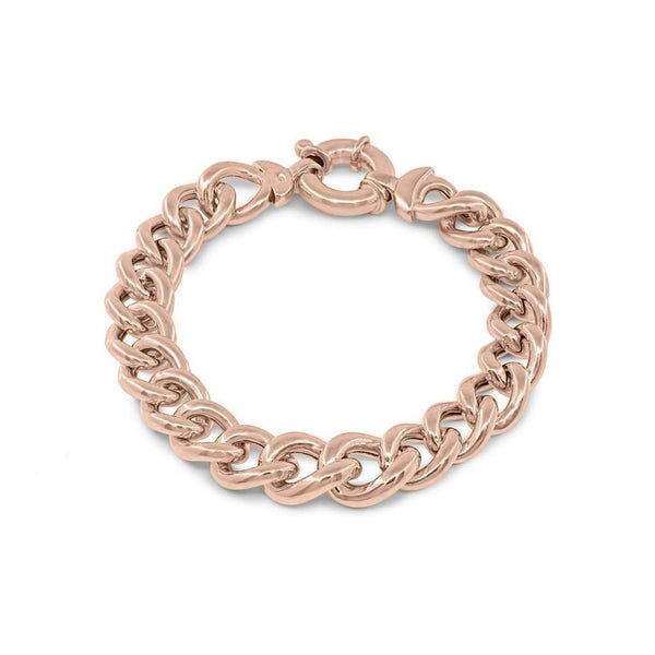Rose Veneto Curb Links Bracelet