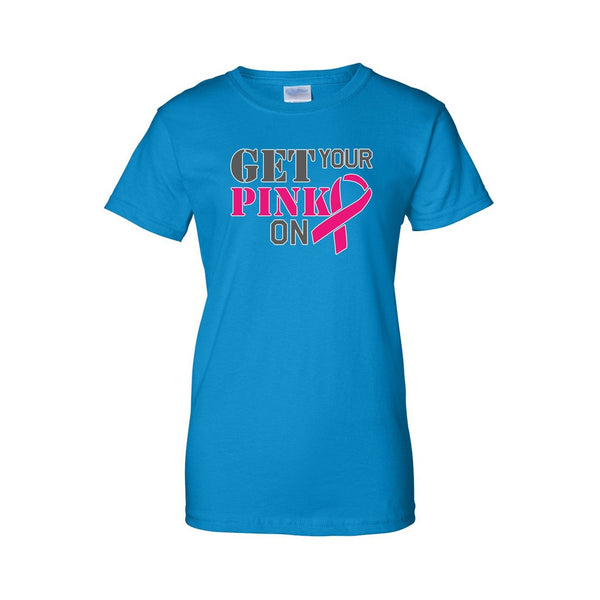 Juniors Get Your Pink On Breast Cancer Awareness T-shirt