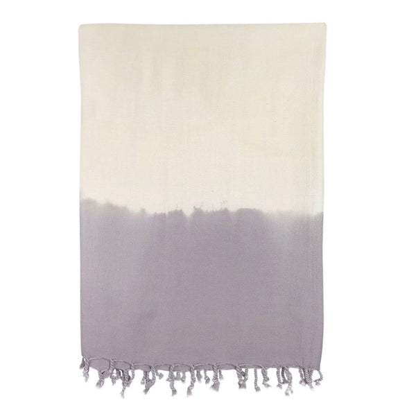 Lavender Dip Dye Turkish Beach Towel