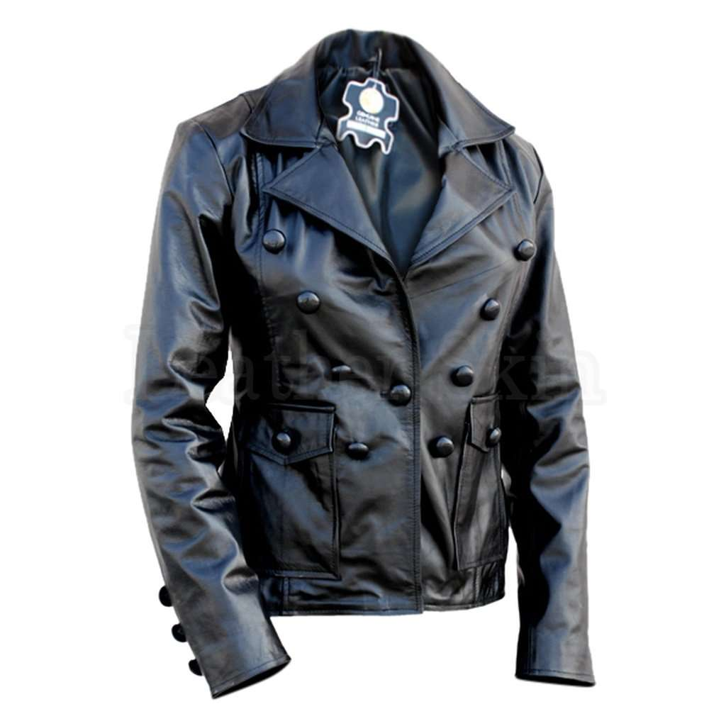Women Black Punk Leather Jacket