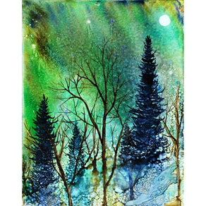 """Ethereal Night"" Alcohol Ink Painting"