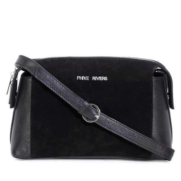 Phive Rivers Women's Black Crossbody Bag-PR1290