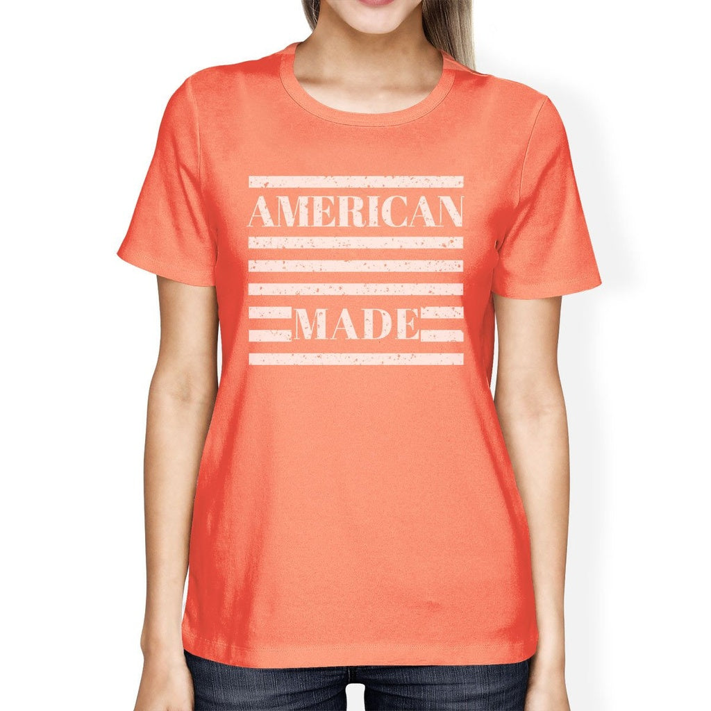 American Made Womens Unique Independence Day Design T-Shirt For Her
