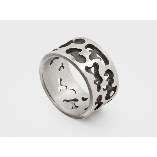 Camouflage Ring in Sterling Silver