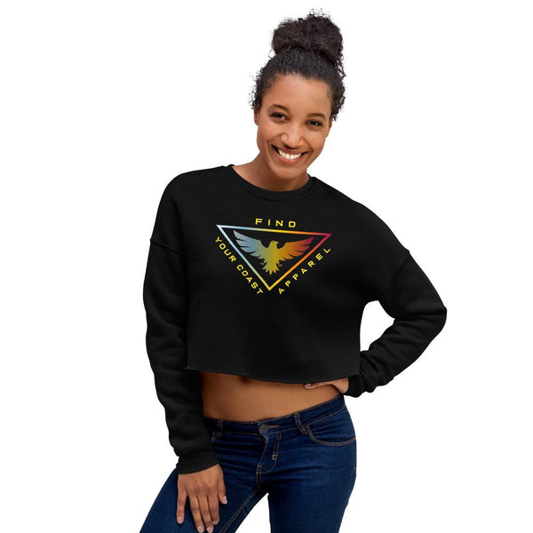 Women's FYC Cropped Cotton Fleece Sweatshirt