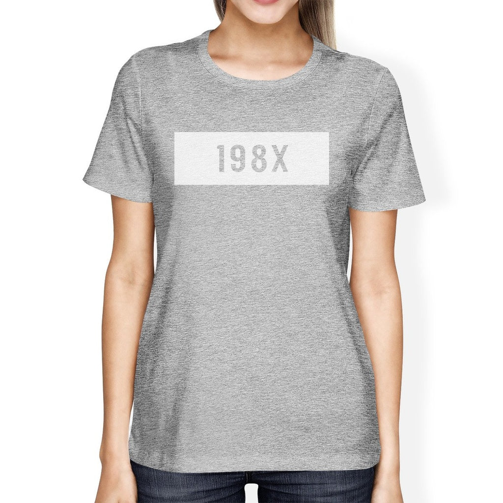 198X Grey Crewneck T-Shirt Trendy Design Tee Cute Gift Idea