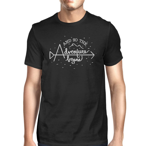And So The Adventure Begins Mens Black Shirt