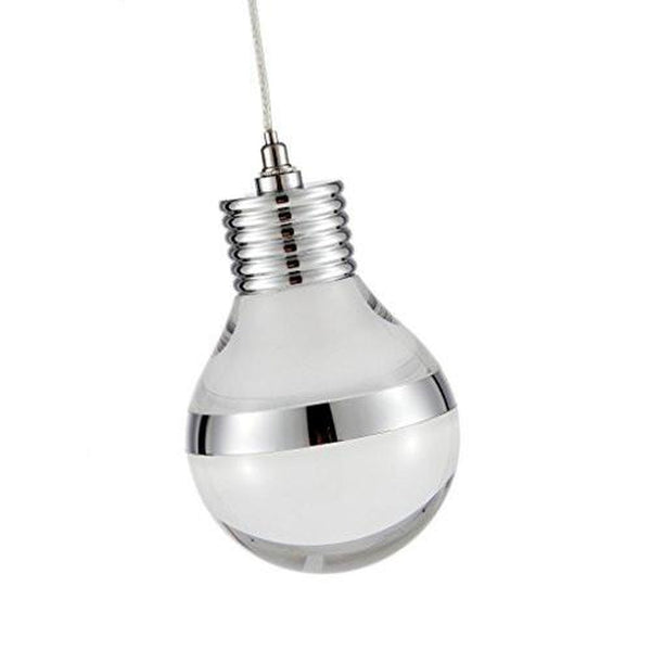 Ohr Lighting® LED Modern Light Bulb Pendant Light, White/Chrome