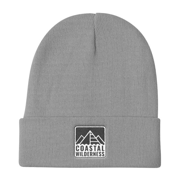 Coastal Wilderness Stencil Knit Beanie