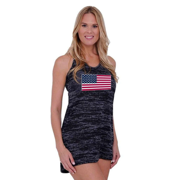 Women's USA Flag Burnout Dress Swimwear Cover-up