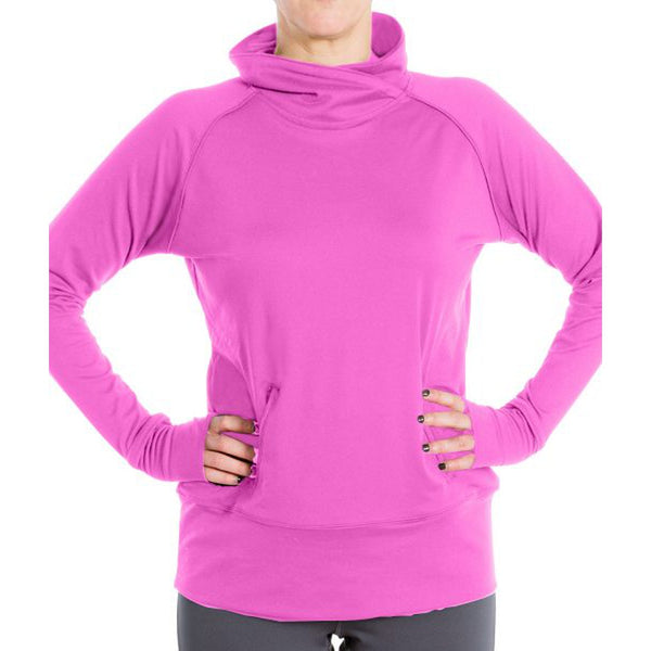 Pink Propel Funnel Neck Pullover
