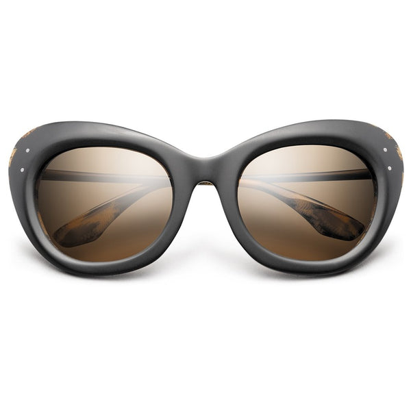 Faye: Matte Black - Polished Leopard / Bronze Gradient Lens