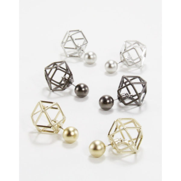 Cella hexa-sphere earrings