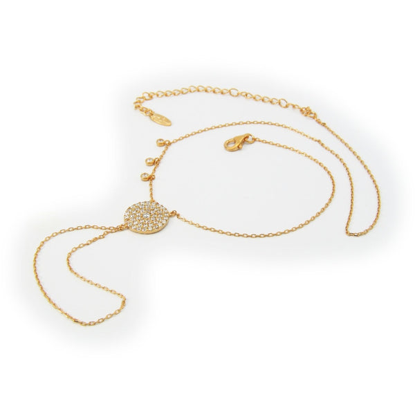 Gold 'Bali' Hand Chain & Necklace, 16""
